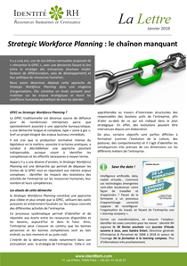 Lettre Janvier 2019 - Strategic Workforce Planning : le chaînon manquant